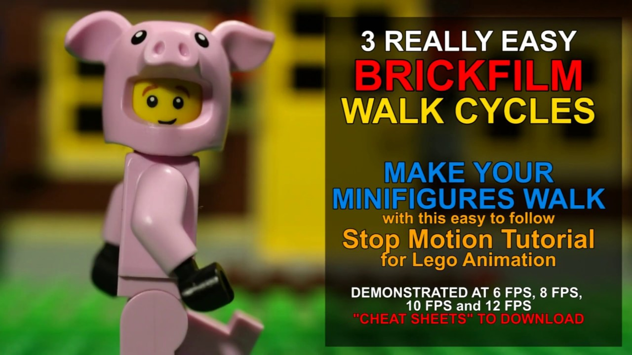 3 Easy Lego Stop Motion Walk Cycles: How To Make Your Lego Minifigure Walk in Your Brickfilm