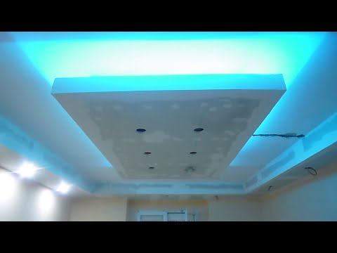 decoration faux plafond avec gorge lumineuse led doovi. Black Bedroom Furniture Sets. Home Design Ideas