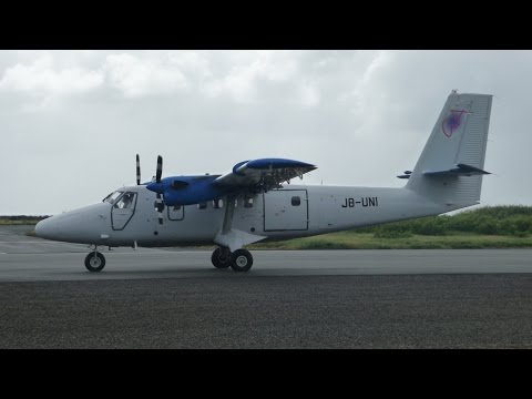 Flying the Twin Otter from Bequia to Barbados - 3 Cameras