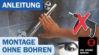 Nie wieder bohren! Badetuchstangen und -leisten Montage ohne Bohren - DUSCHMEISTER.DE