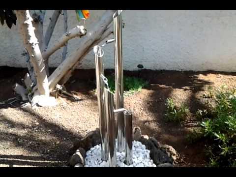 Edelstahl Wasserspiel - Brunnen selber gebaut - YouTube