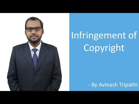 Lecture on Infringement of Copyright