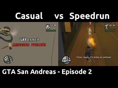 Casual VS Speedrun In GTA San Andreas #2 - Skipping Rockstar's Minigames