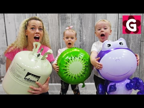 Thumbnail: Learn Colors with Helium Balloons / Baby Nursery Rhymes Song Part 2