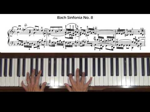 Bach Sinfonia No. 8 Three-part Inventions Piano Tutorial