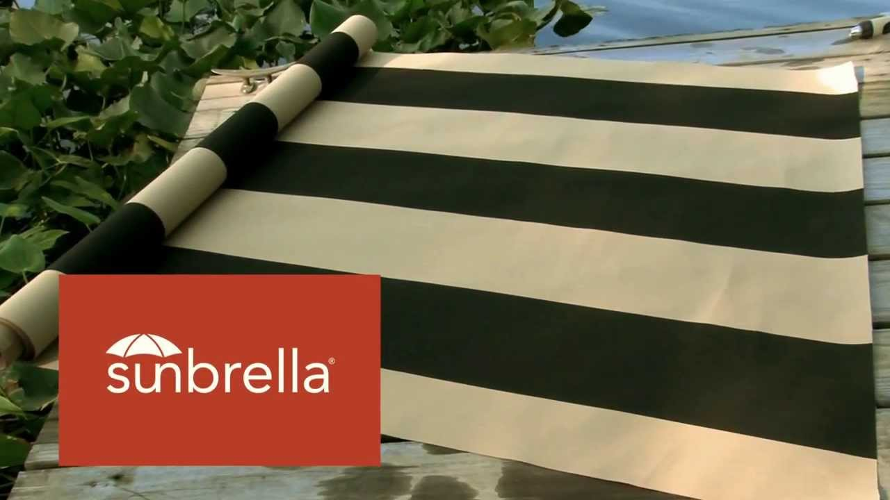 Video Of Sunbrella Manhattan Classic Awning Stripe Fabric 4789 0000