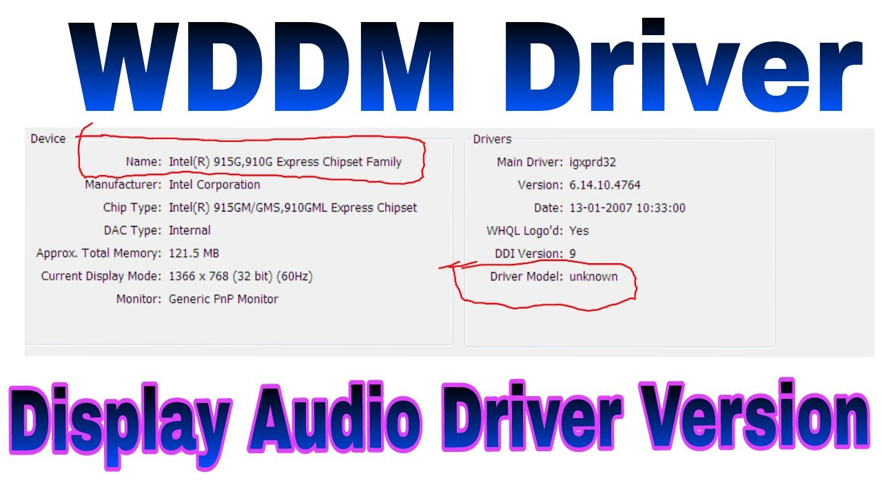 wddm 1.0 driver download windows 7 64 bit