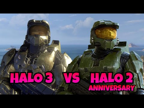 Halo 3 Vs Halo 2 Anniversary Master Chief