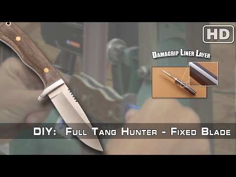 How To Build: The Full Tang Hunter Knife Kit By KnifeKits.com