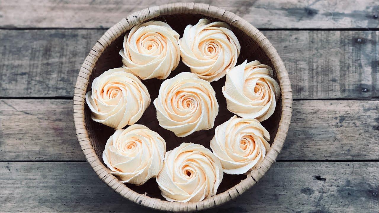 Twisted Rose Tutorial   Cách Làm Hoa Hồng Xoắn Cánh To   Rita Handmade