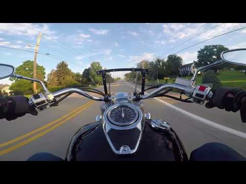 GoPro First-Person Suzuki Boulevard C50 Commute to Work - Fairchance, PA to California, PA