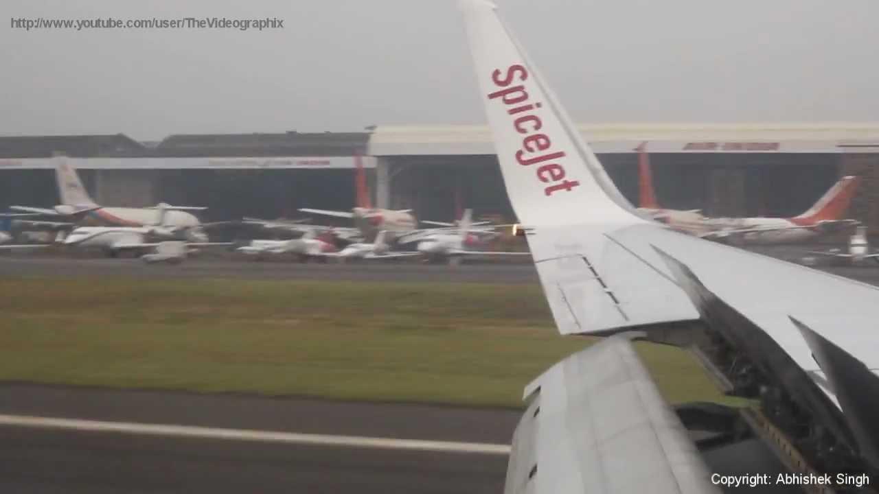 Spicejet Boeing 737 800 Delhi To Mumbai