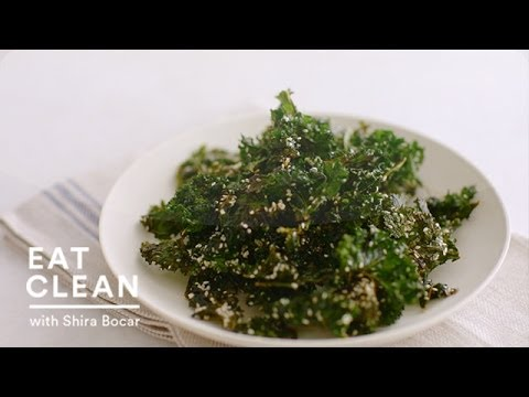 Crispy Sesame Kale Chips Eat Clean with Shira Bocar