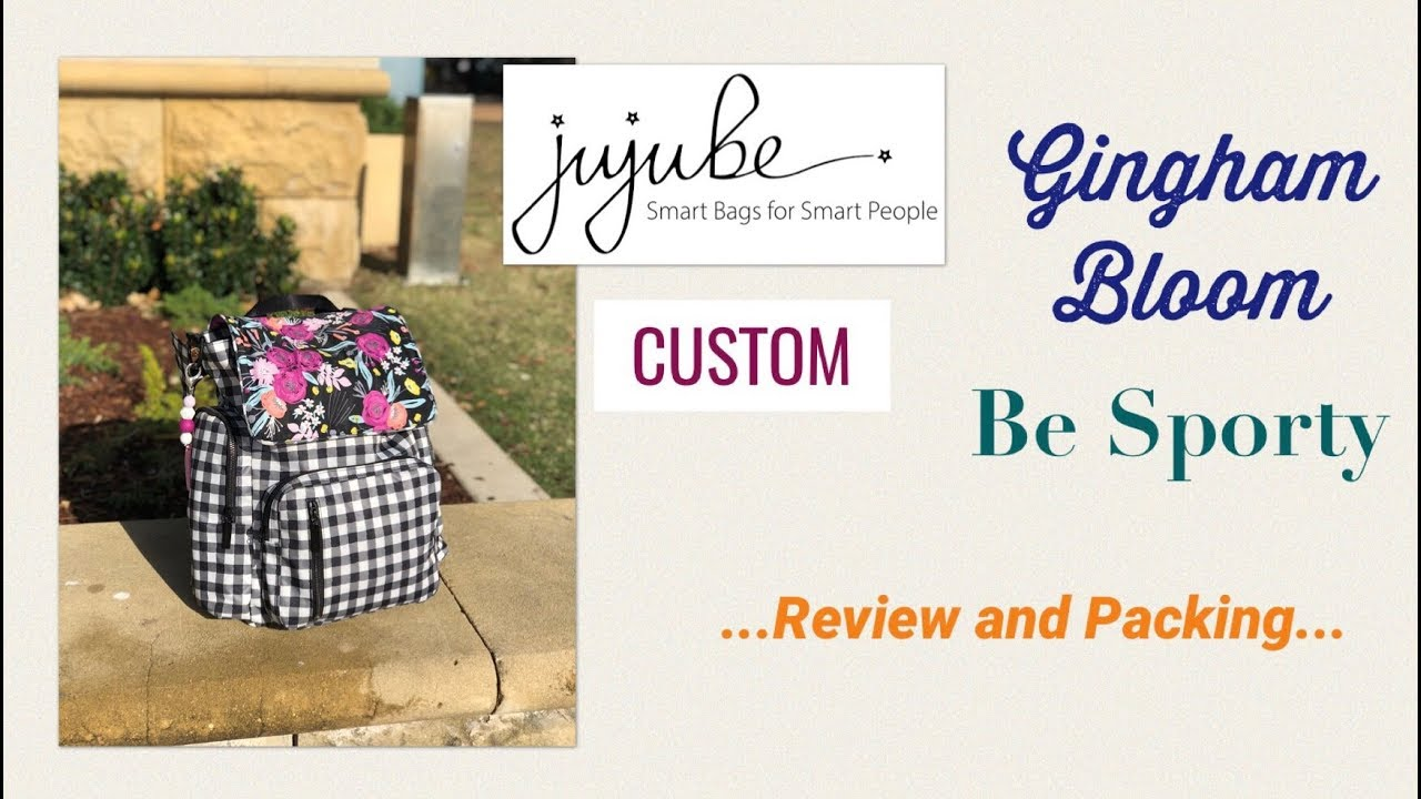 c45b37db1df2 Ju-Ju-Be CUSTOM Gingham Bloom Be Sporty - Review and Packing - YouTube