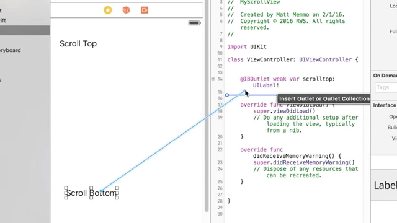 Xcode: ScrollView with Swift