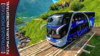 Curva Difícil ESTRADAS MORTAIS - Ônibus Viação Cometa G7-1800 Euro Truck Simulator 2 - Volante G27!