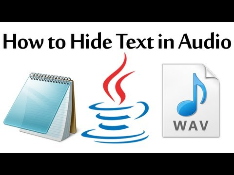 How to Hide a Text File in an Audio File