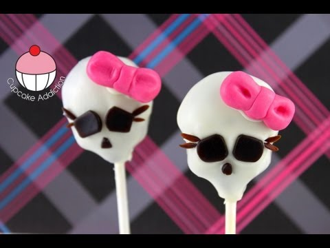 MONSTER HIGH CAKE POPS! A Cupcake Addiction How To Tutorial