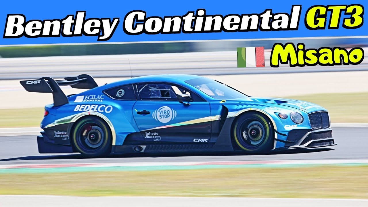 Bentley Continental GT3 - 550Hp Twin-Turbo V8 Engine Sound - Misano Circuit Test Days 2020