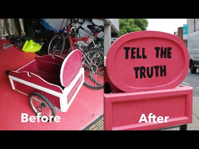 Making The Tell The Truth Bike Cart