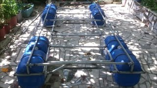 How to make a portable pontoon boat with big plastic bottles for multi purposes