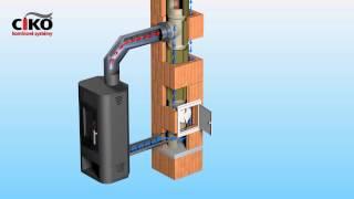 Komínový systém CIKO TEC - animace přívodu vzduchu komínem
