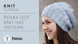 Polka Dot Knit Hat Pattern Knit Along Class with Kristen