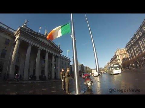 Irish flag raised in Dublin