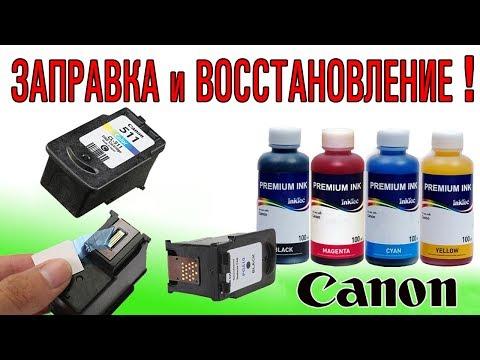 Заправка чернилами и восстановление печатающих головок картриджей для принтеров Canon (2017)