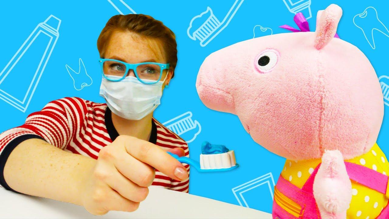 Spielzeug Video für Kinder. 2 Folgen mit Peppa Wutz auf Deutsch. Lernen mit Peppa und Schorsch