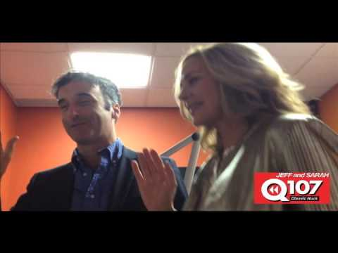 Kim Cattrall and Don McKellar white-hatted at Q107 Calgary