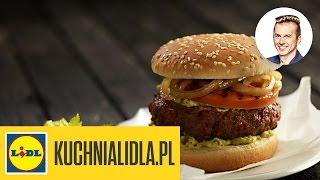 Najlepszy hamburger z grillowanym pomidorem i cebulą - Karol Okrasa - przepisy Kuchni Lidla