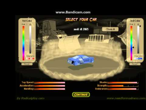 Need For Madness  Car Codes