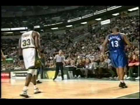 Tracy McGrady & Grant Hill playing together VS Sonics (feat. Pat Ewing)