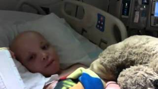 """7 year old cancer patient sings """"Baby"""" Justin Bieber"""