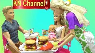 BÉ NA LÀM THỨC ĂN NHANH KFC CHO BÚP BÊ KN Channel | ĐỒ CHƠI NHẬT BẢN POPIN COOKIN