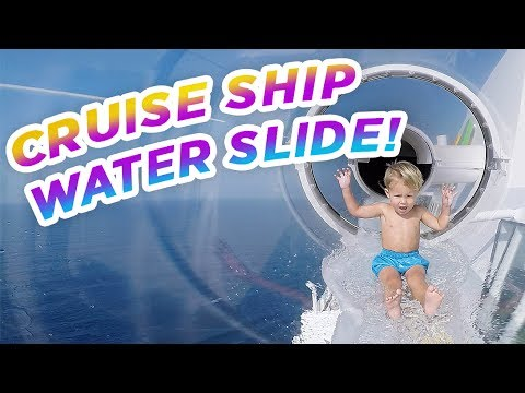 CRAZY WATER SLIDE CRUISE SHIP!! On Board The Aida Perla Maiden Voyage!!