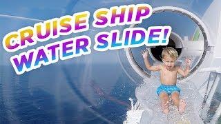 CRAZY WATER SLIDE CRUISE SHIP!! On Board The Aida Perla Maiden Voyage!!