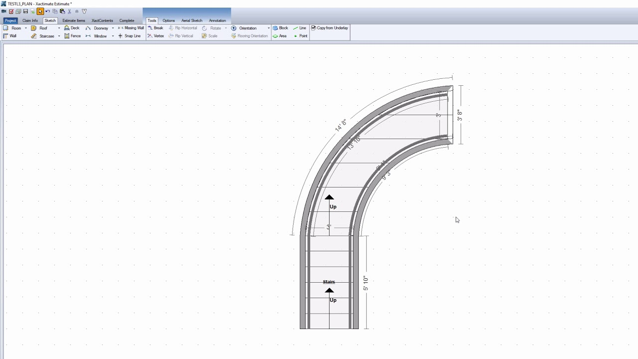 Xactimate Xpert Tips: Making Curved Stairs