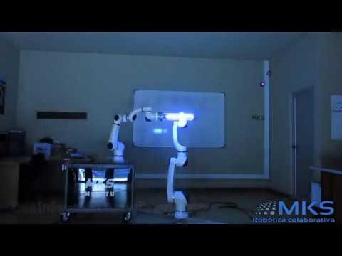 Desinfección ultravioleta con cobot Elfin