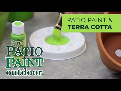 Decoart Tips Tricks Using Patio Paint On Terra Cotta