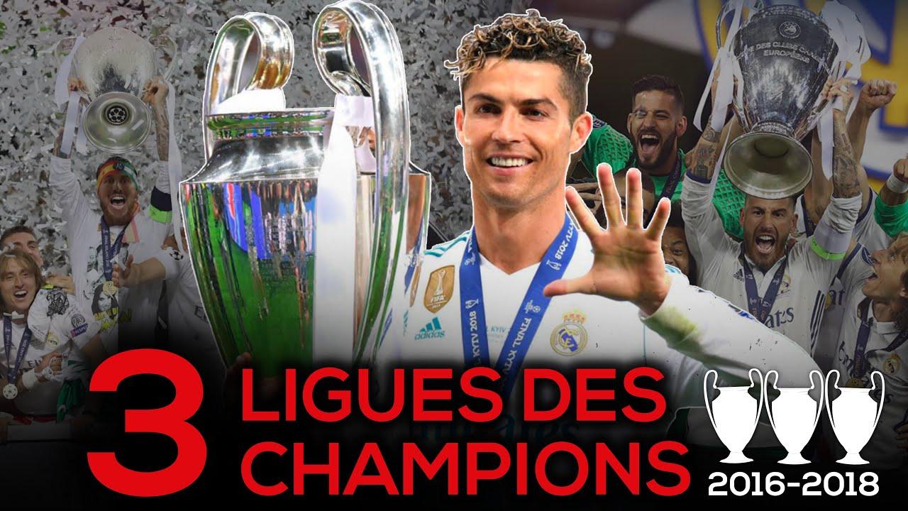 ? Revivez le TRIPLÉ EUROPÉEN du Real Madrid entre 2016 et 2018 !