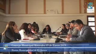 Concejo Municipal Miércoles 09 de Enero 2019 - El Quisco
