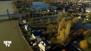 Les inondations en Seine-Maritime vues du drone BFMTV