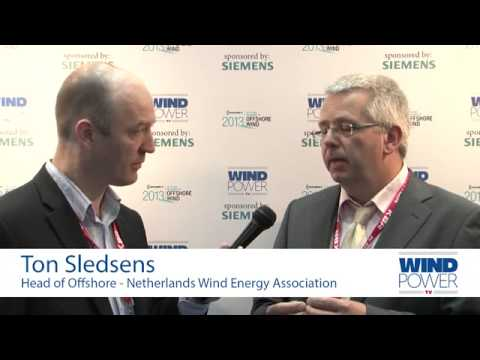 Ton Sledsens, from Netherlands Wind Energy Association, interviewed at Offshore Wind 2013
