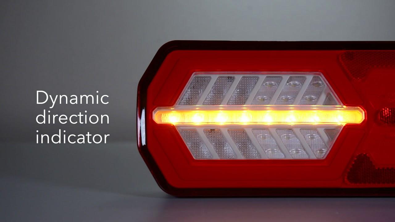 dasteri 6 function rear led lamp