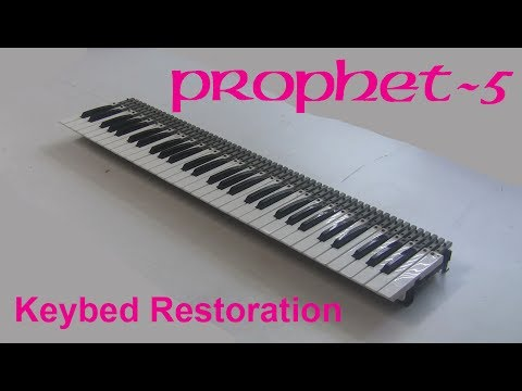 Synthchaser #068 - Sequential Circuits Prophet 5 Restoration & Repair - Keybed Refurbishment