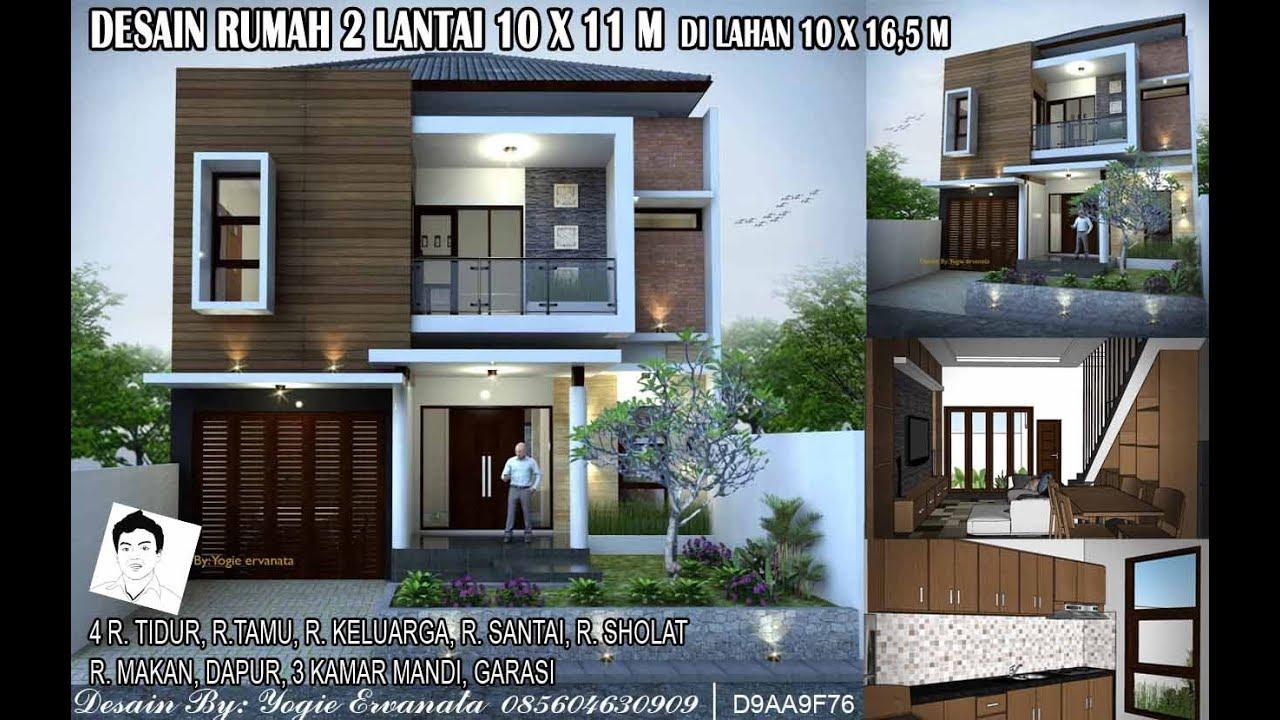 Desain Rumah 2 Lantai Garasi 2 Mobil