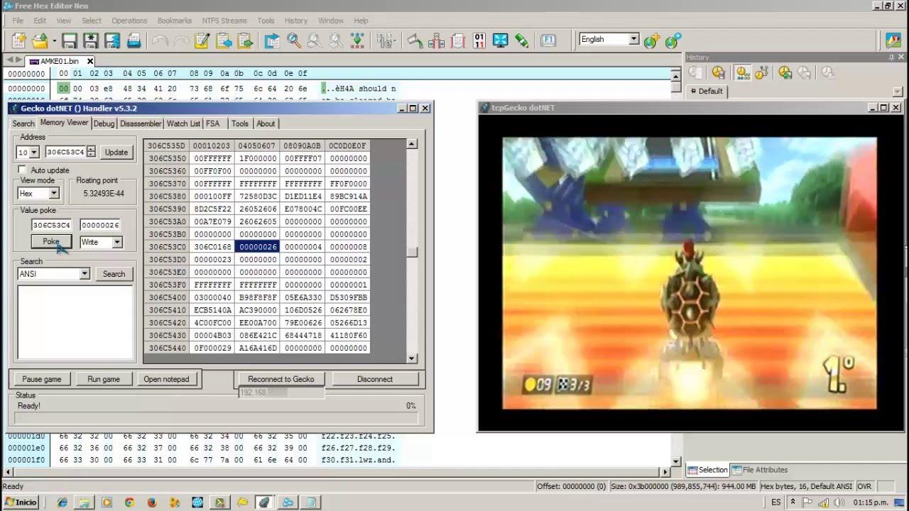 <b>Wii</b> U】TCPGecko (Gecko dotNet) - How to Apply <b>Cheats Codes</b> in <b>Wii</b> ...