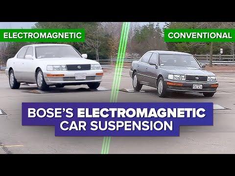 Si utilitzem el fenomen físic de l'electromagnetisme, podem fer la suspensió d'un cotxe perfecta. La va dissenyar la coneguda marca d'altaveus Bose però, malgrat el magnífic de l'invent, finalment, la marca no va poder convèncer a cap fabricant que equipés alguns dels seus models amb aquesta suspensió; la van considerar excsivamente pesada i costosa per a un cotxe de sèrie. Una veritable llàstima, perquè aquest sistema millorava la seguretat en carretera i disminuïa el consum de combustible.